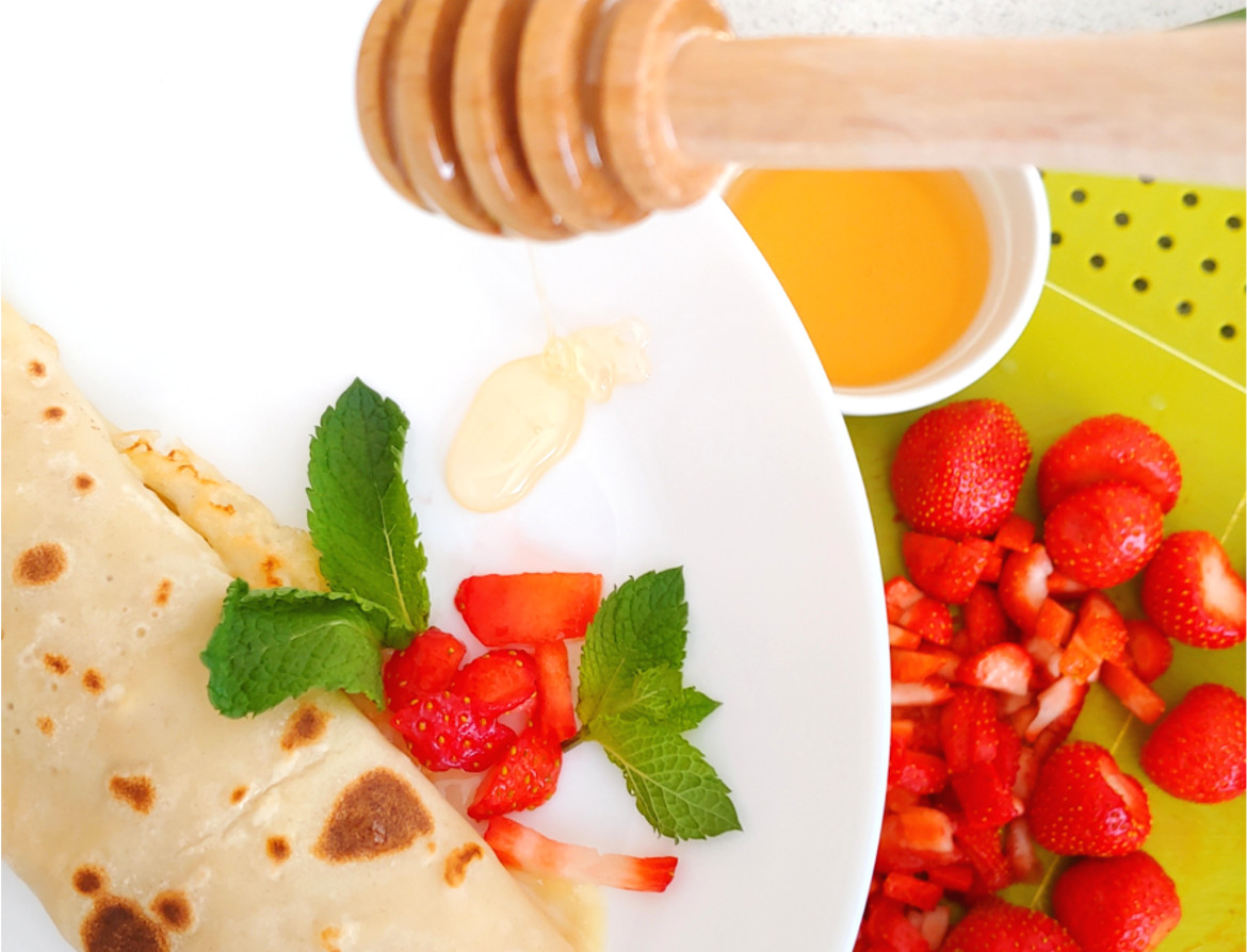 Strawberries and Clotted Cream Pancakes